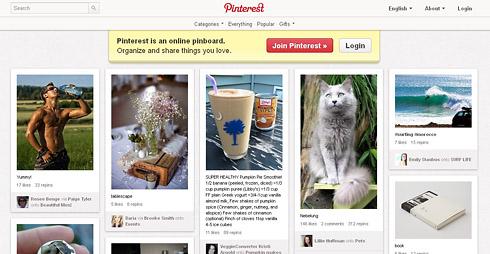 Sociální síť Pinterest