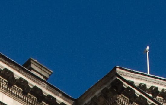 Ukázka jaového šumu v obloze